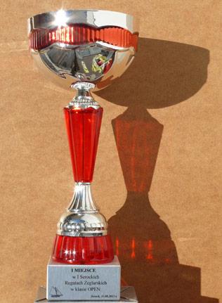 Puchar I miejsce, fot. Frog Hunter, Pierwsze Serockie Regaty Żeglarskie 2013